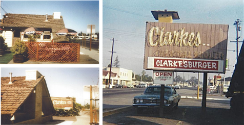 clarke restaurant with signage